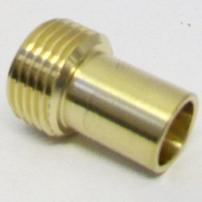 Brass 1/2in Tap Connector Conversion to 15mm Pipe Fitting -  54000005